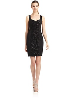 Aidan Mattox - Embellished Front Cocktail Dress