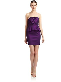 Aidan Mattox - Taffeta Strapless Cocktail Dress