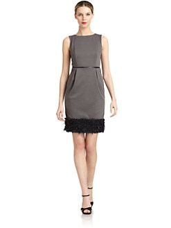 Carmen Marc Valvo - Ribbon-Embellished Sheath Dress