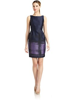 Carmen Marc Valvo - Brocade Sheath Dress