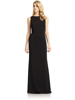 Badgley Mischka - Lace-Up Back Gown