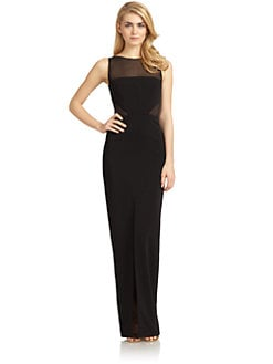 Badgley Mischka - Cutout Column Gown