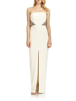 Badgley Mischka - Deco Embellished Strapless Dress