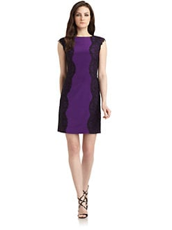 Phoebe Couture by Kay Unger - Lace Side Cocktail Dress