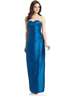 Phoebe Couture by Kay Unger - Silk Sweetheart Gown