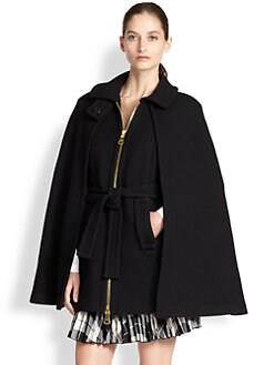 MILLY - Sienna Belted Cape Coat