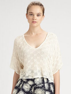 Milly - Lucia Cropped Crochet Top