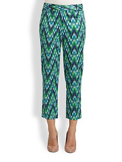 Milly - Annie Chevron Ankle Pants