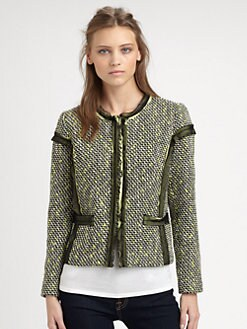 Milly - Lia Tulle-Trim Jacket