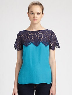 Milly - Mila Lace-Trim Top