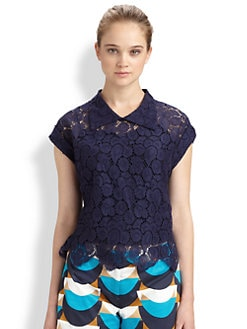Milly - Walker Cropped Lace Top