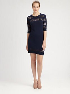 Milly - Pointelle Cutout Dress