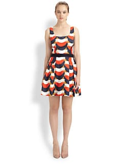 Milly - Isabelle Pleated Print Dress