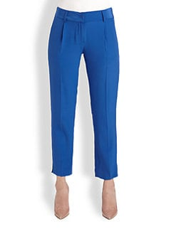 Milly - Nicole Cropped Silk Pants