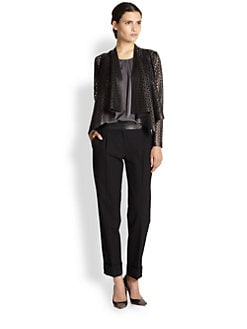 Milly - Perforated Leather Jacket