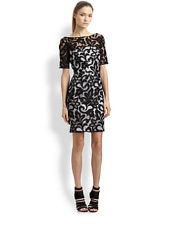 Milly - Lace Boatneck Dress