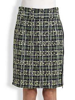 Milly - Side-Zip Pencil Skirt