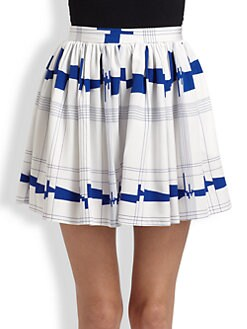 Milly - Silk A-Line Skort