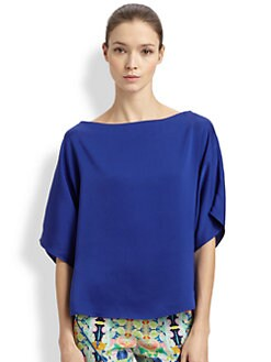 Milly - Silk Dolman Top