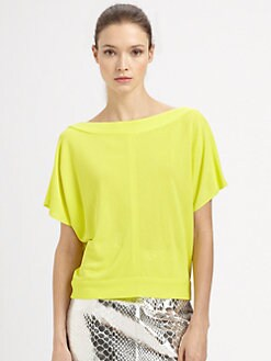 Milly - Jersey Cowlback Top