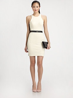 Milly - Two-Tone Racerback Dress