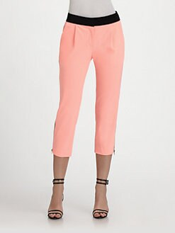 Milly - Layney Cropped Zip-Cuff Pants