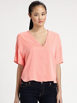 Milly - Stretch-Silk Dolman Tee