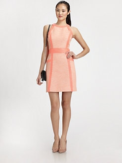 Milly - Piped-Trim Sheath Dress