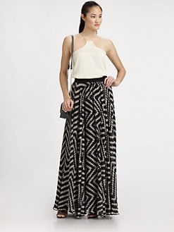 Milly - Luca Silk Maxi Skirt