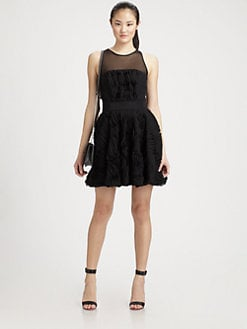 Milly - Twirl Mesh-Panel Dress
