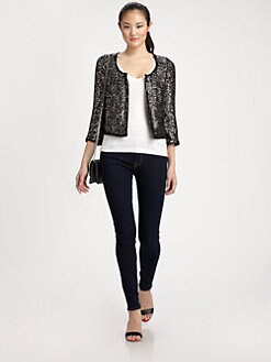 Milly - Pailettes Silk Jacket
