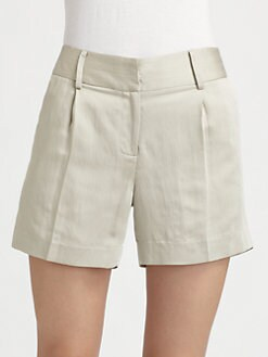 Milly - Tailored High-Waist Shorts