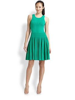 Milly - Josephine Pleated Knit Dress
