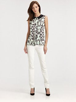 Milly - Anat Stretch-Silk Top