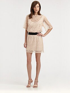 Milly - Brecht Chevron Dress