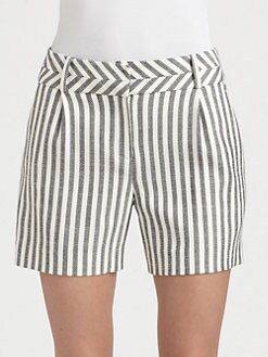 Milly - Contrast-Stripe Shorts