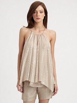 Milly - Gathered Handkerchief Tank