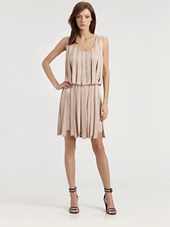 Milly - Sage Embellished Pieced Dress