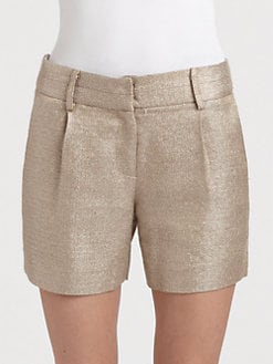 Milly - Textured Woven Shorts