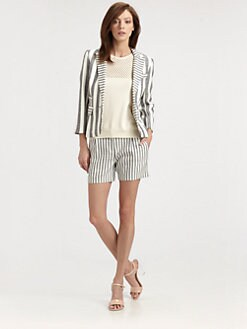 Milly - Contrast-Stripe Blazer