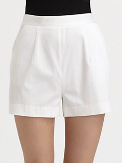 Milly - Kelsey High-Waist Shorts