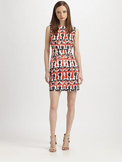 Milly - Printed Sateen Dress