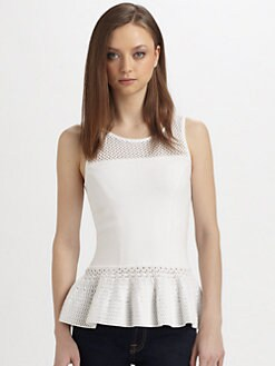 Milly - Rainey Peplum Top