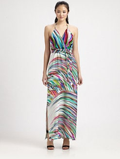Milly - Silk Halter Maxi Dress
