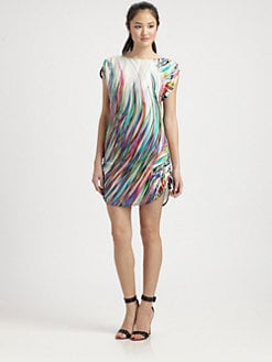 Milly - Chloe Silk Drawstring Tie Dress