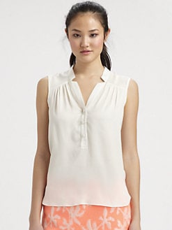 Milly - Camilla Stretch-Silk Top