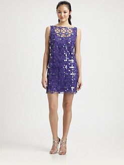 Milly - Jolie Sequined Shift Dress