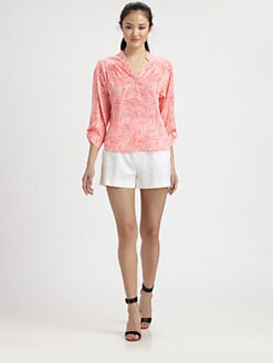 Milly - Camila Stretch-Silk Blouse