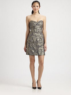 Milly - Strapless Sequin Dress