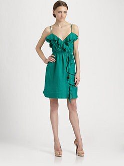 Milly - Stefanie Silk Ruffle Dress